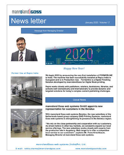 January 2020 Newsletter by manroland Goss INdia